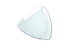 Coupelles triangulaires incurvées en verre - Lot de 12 - Supports en Verre – 10doigts.fr