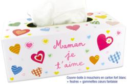 Couvre-boite à mouchoirs en carton fort - Boîtes – 10doigts.fr