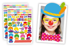 Crazy Clown Stickers