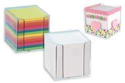 Cube à notes 9.5 cm - Pense-bête – 10doigts.fr