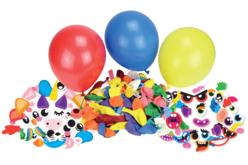 PARTY KIT ballons à customiser - 100 ballons et ses accessoires - Ballons, guirlandes, serpentins – 10doigts.fr