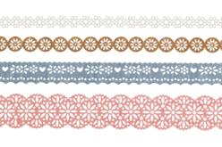 Dentelle adhésive en papier, Champêtre - Set de 4 rouleaux - Masking tape (Washi tape) – 10doigts.fr