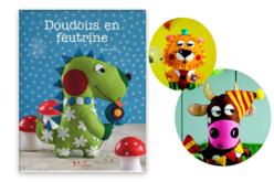 Livre Doudous en feutrine - Livre Mercerie – 10doigts.fr