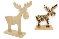 Elan en bois naturel - Noël – 10doigts.fr