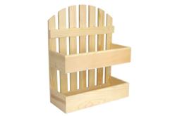 Étagère en bois barrière - 2 niveaux - Cuisine et vaisselle – 10doigts.fr