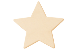 Étoile en bois naturel - Motifs brut – 10doigts.fr