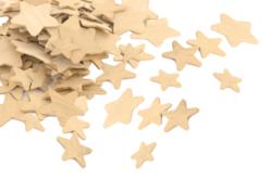 Étoiles en bois - Tailles assorties - Motifs brut – 10doigts.fr