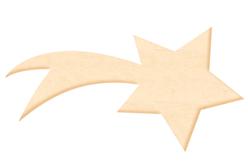 Etoile filante en bois naturel - Motifs brut – 10doigts.fr
