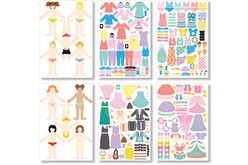 Stickers filles - 6 planches - Gommettes fantaisie – 10doigts.fr