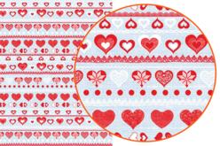 Papier Décopatch Coeurs - 3 feuilles  N°546 - Papiers Décopatch – 10doigts.fr