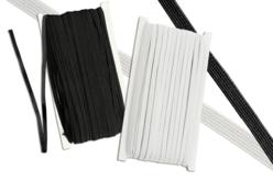 Fil élastique plat Blanc ou noir - 50 mètres - Élastiques – 10doigts.fr