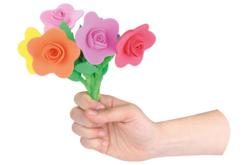 Fleurs en caoutchouc mousse - Kit pour 6 fleurs - Divers – 10doigts.fr