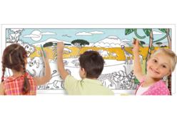 Fresque Savane Africaine à colorier