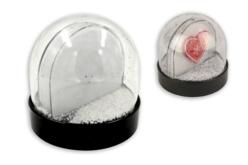 Globe plexy boule à neige avec inclusion photo - Décoration de Noël – 10doigts.fr