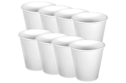 Gobelets en carton blanc - Lot de 8 pièces - Anniversaires – 10doigts.fr