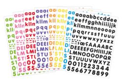 Gommettes alphabet coloré - Gommettes Alphabet, messages – 10doigts.fr