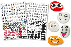 gommettes crazy face stickers