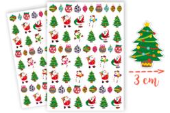 Gommettes Noël - 2 planches - Gommettes Noël – 10doigts.fr