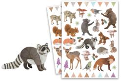 Stickers animaux de la forêt réaliste - 80 stickers - Gommettes Animaux – 10doigts.fr