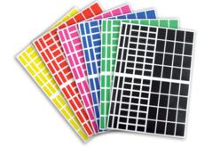 Gommettes rectangles - 18 planches - Toutes les gommettes géométriques – 10doigts.fr