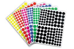 Gommettes rondes 6 couleurs - 18 planches - Gommettes Rondes – 10doigts.fr