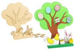 Kit grand arbre de pâques + accessoires à poser sur socle - Kits activités Pâques – 10doigts.fr