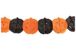 Guirlande de citrouilles en papier - 3 mètres - Halloween – 10doigts.fr