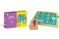 Coffret Jeu Memory et gommettes - Créer un jeu : dominos, memory – 10doigts.fr