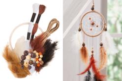 Kit attrape-rêves - couleurs naturelles - Kits créatifs prêt à l'emploi – 10doigts.fr