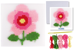 Kit canevas Fleur - Canevas – 10doigts.fr