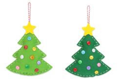 Suspension sapin en feutrine rembourrée - Kits activités Noël – 10doigts.fr