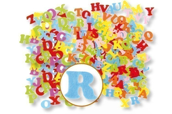 Lettres en feutrine adhésive - 80 stickers - Formes en Feutrine Autocollante – 10doigts.fr