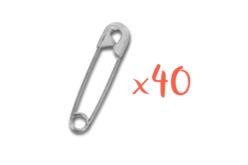 Epingles à boucles simples - Lot de 40 - Pin's et broches – 10doigts.fr