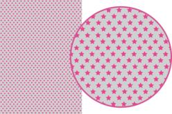 Magic Paper auto-adhésif Etoiles roses sur fond gris - Magic Paper – 10doigts.fr