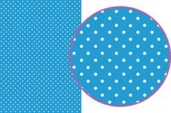 Magic Paper auto-adhésif Pois blancs sur fond bleu
