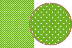 Magic Paper auto-adhésif Pois blancs sur fond vert - Magic Paper – 10doigts.fr