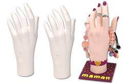 Main en polystyrène - Bijoux, bracelets, colliers – 10doigts.fr