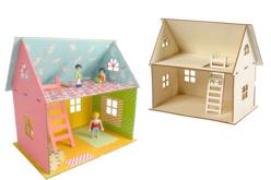 Maison en bois naturel à monter - Maquettes en bois – 10doigts.fr