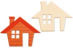 Maison en bois naturel 10 x 8 cm