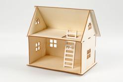Kit maison 3D à construire - Maquettes en bois – 10doigts.fr