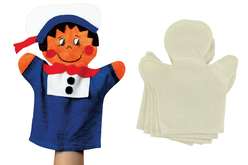 Marionnettes en coton - Lot de 6 - Coton, lin – 10doigts.fr