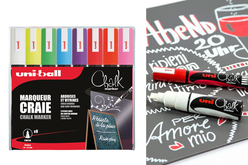 Marqueurs craie POSCA - 8 couleurs assorties - Marqueurs Posca – 10doigts.fr