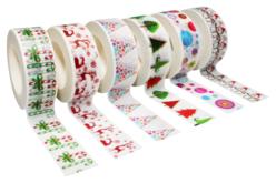 Masking tape Noël - 6 rouleaux assortis - Nouveautés – 10doigts.fr