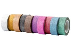 Masking tape pailleté - Set de 10 rouleaux - Masking tape (Washi tape) – 10doigts.fr