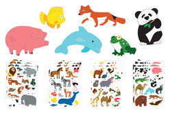 Maxi gommettes animaux - Thèmes au choix - Gommettes animaux – 10doigts.fr