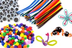 Mega pack créatif : pompons, chenilles et yeux mobiles assortis - Chenilles, cure-pipe – 10doigts.fr