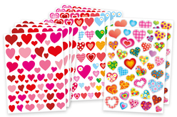Gommettes coeurs assorties - Coeurs autocollants – 10doigts.fr