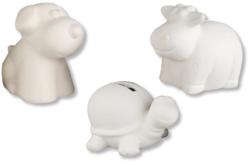 Mini tirelires en terre cuite blanche