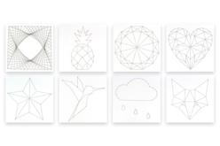 String Art - Set de 8 Modèles perforés - String Art – 10doigts.fr