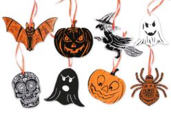 Cartes à gratter thème Halloween + accessoires - 8 formes - Carte à gratter – 10doigts.fr